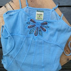 Free People Baby doll top Light blue